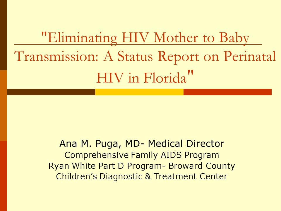 Mothers of Perinatally HIV-Infected Cases According to Receipt of Prenatal Care and/or Prenatal ART* Born in and Reported in Florida, 2000-2008** And Moms HIV status was known prior to delivery (N=170) *ART – Antiretroviral Therapy Adequate Prenatal Care Began by 4 th month with 5+ visits Any Prenatal ART AZT and/or antiretrovirals YesNo **2008 data are provisional.
