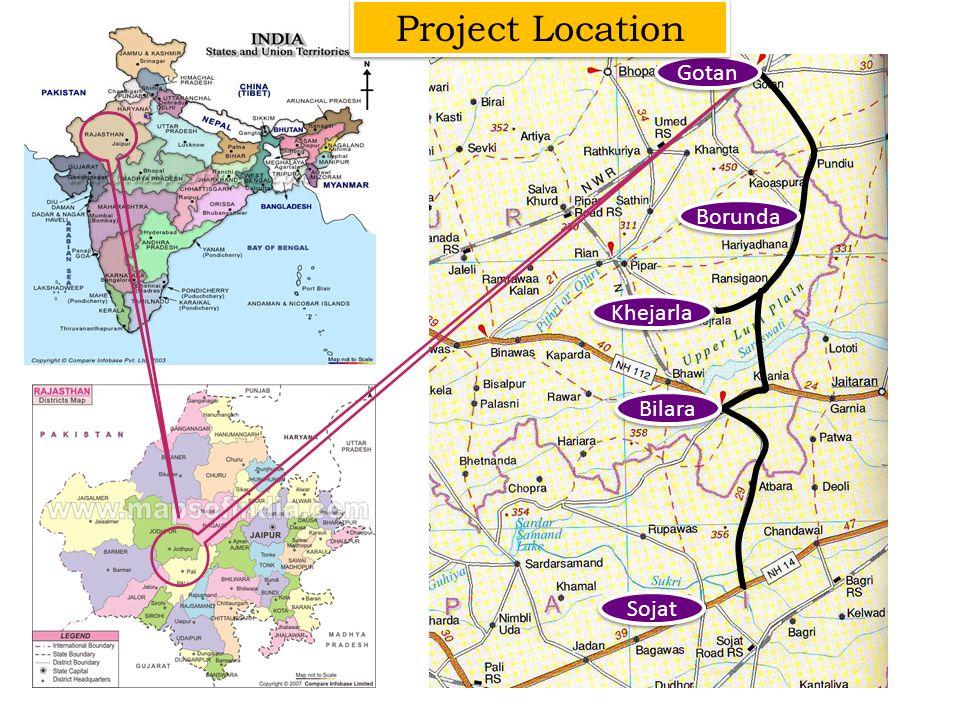 Gotan Bilara Borunda Sojat Khejarla Project Location