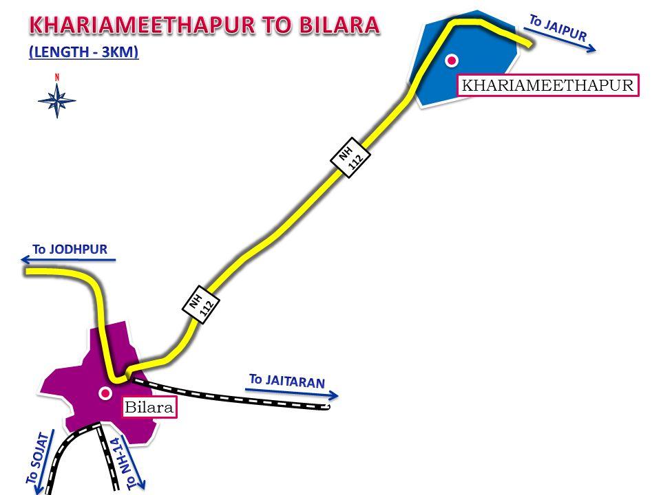 KHARIAMEETHAPUR NH 112 Bilara