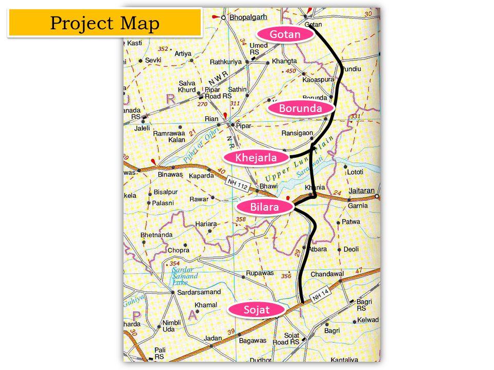 Gotan Bilara Borunda Sojat Khejarla Project Map