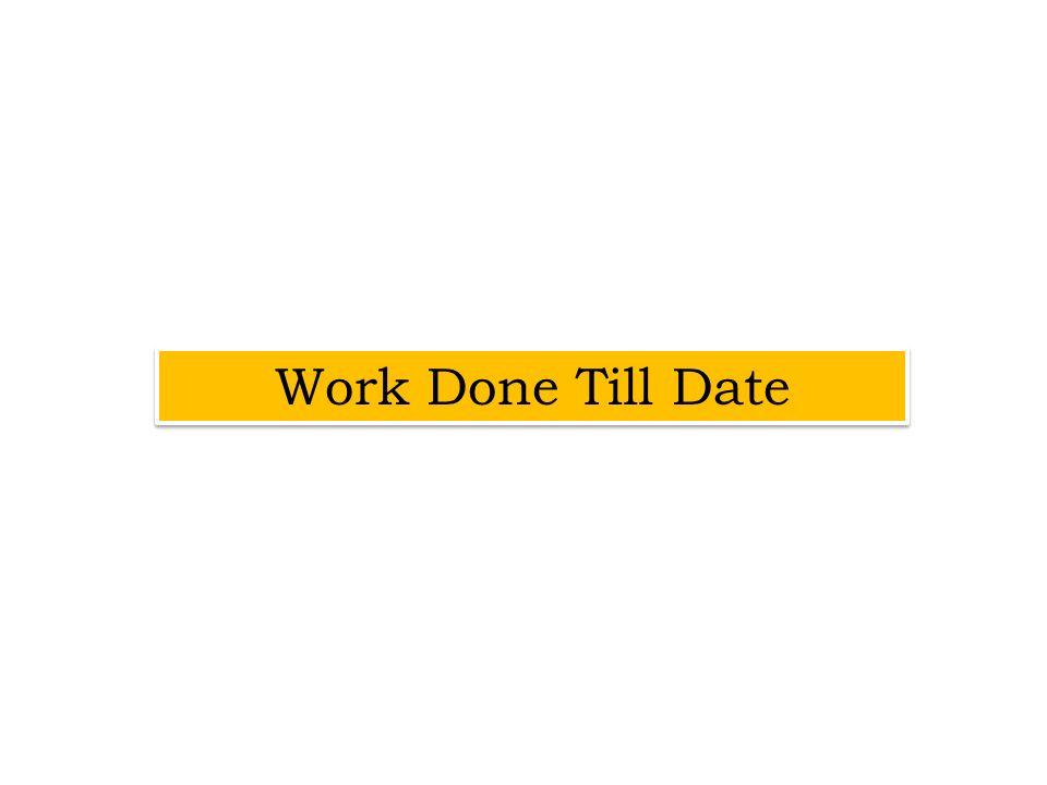Work Done Till Date