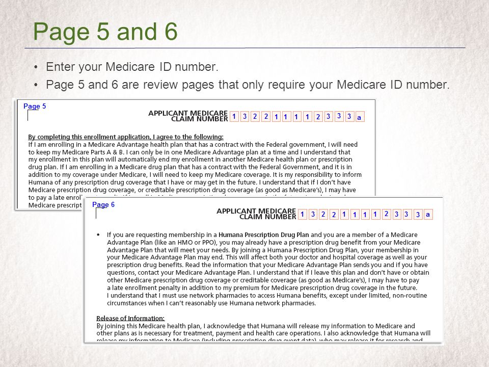 Enter your Medicare ID number.