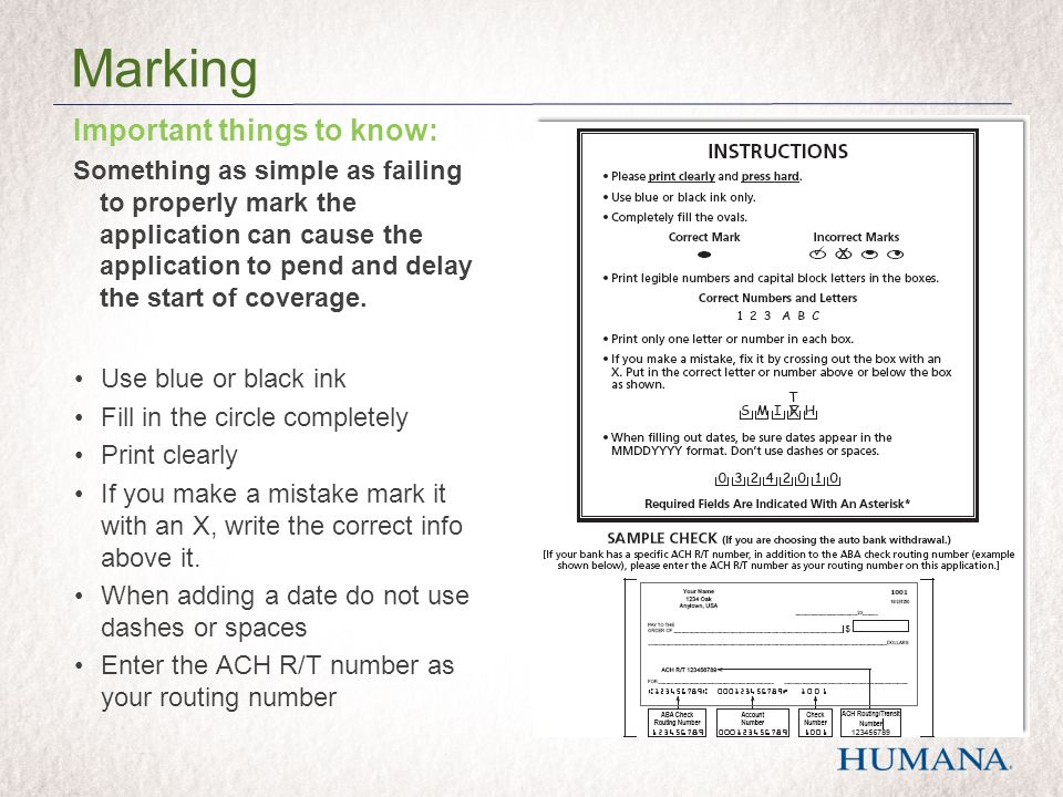 Important things to know: Something as simple as failing to properly mark the application can cause the application to pend and delay the start of cov