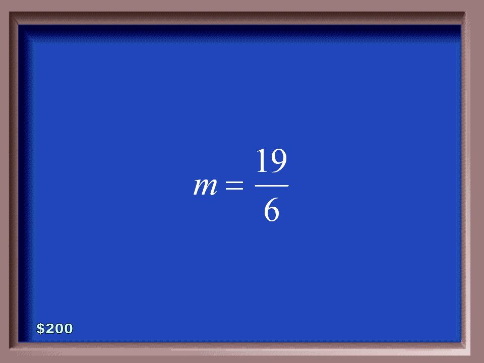 5-200 Find the slope of the line that passes through the given points.