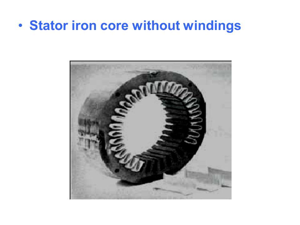 Stator iron core without windings
