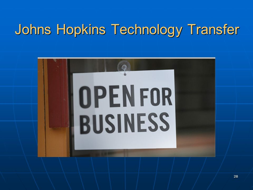Johns Hopkins Technology Transfer 28