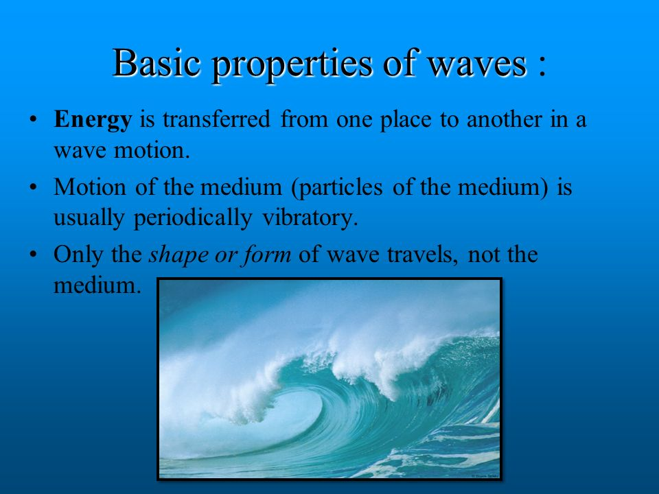 Definition of wave A periodic disturbance which travels through a medium from one point in space to the others. Wave motion means the propagation of w