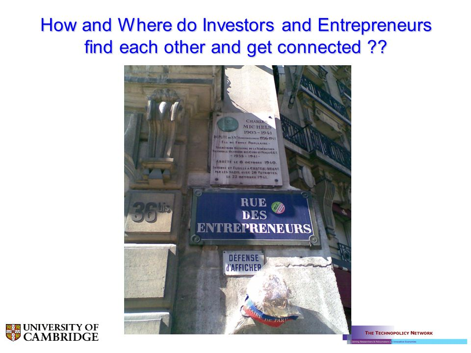 How and Where do Investors and Entrepreneurs find each other and get connected ??