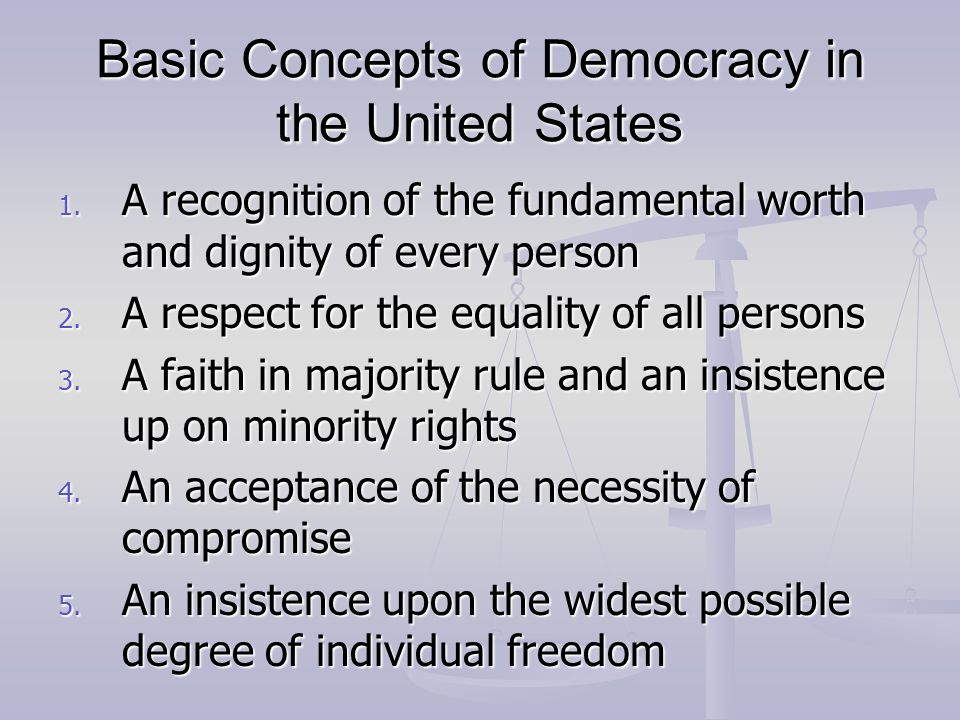 Final Thoughts on Democracy Democracy is not a perfect system Democracy is not a perfect system Its more of less a system of trial and error and learning from those errors Its more of less a system of trial and error and learning from those errors