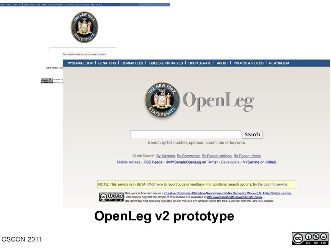 OpenLeg v2 prototype OSCON 2011
