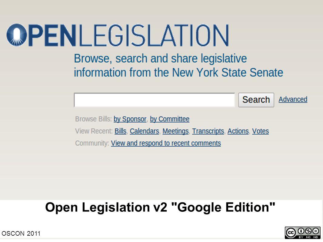 Open Legislation v2
