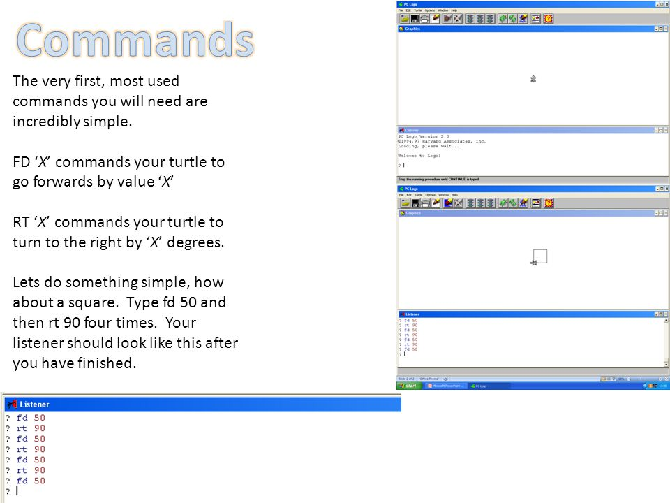 The very first, most used commands you will need are incredibly simple.