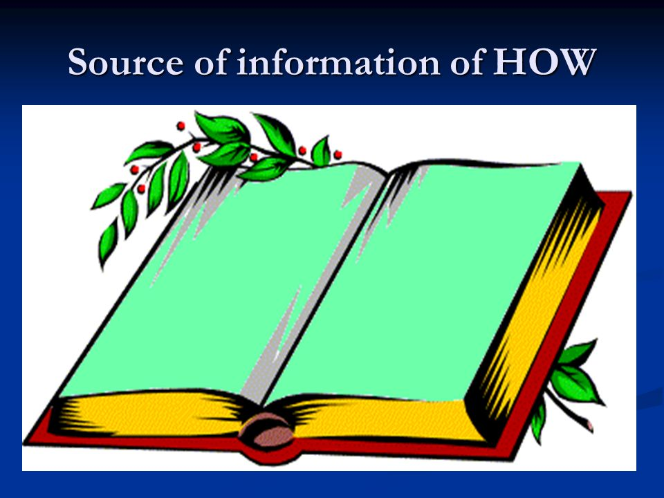 Source of information of HOW