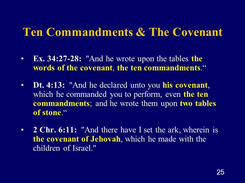 25 Ten Commandments & The Covenant Ex. 34:27-28: