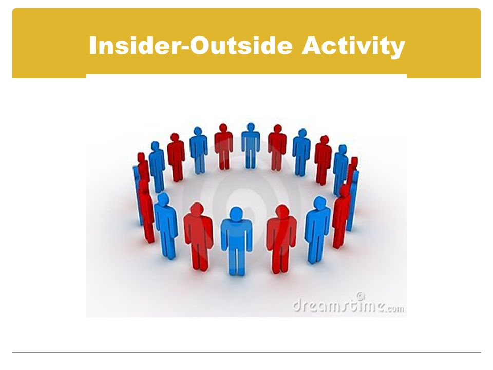 Insider-Outside Activity