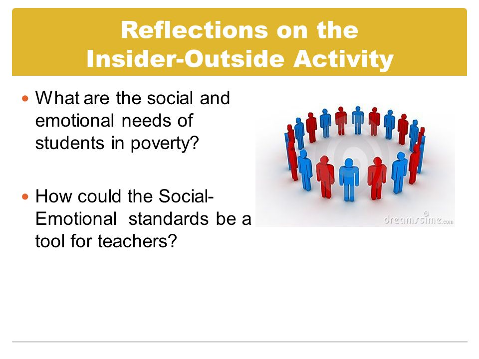 Reflections on the Insider-Outside Activity What are the social and emotional needs of students in poverty.