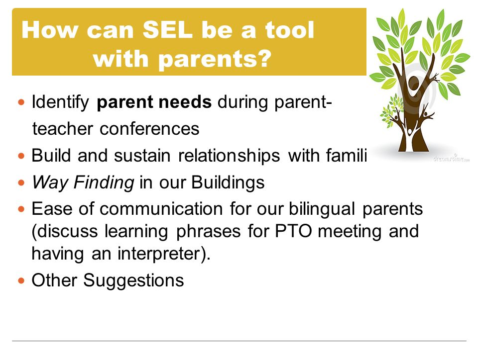 Identify parent needs during parent- teacher conferences Build and sustain relationships with families Way Finding in our Buildings Ease of communicat