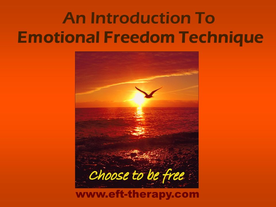 An Introduction To Emotional Freedom Technique www.eft-therapy.com