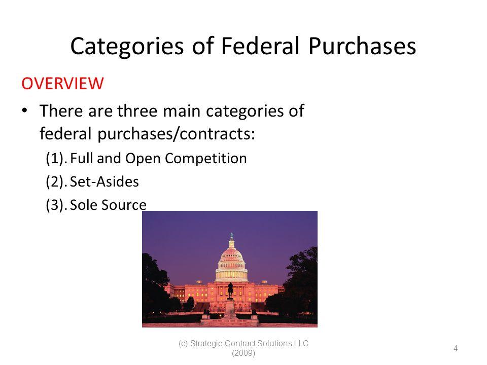 (c) Strategic Contract Solutions LLC (2009) 25 FedBizOpps Identify Opportunities – Follow the Money.