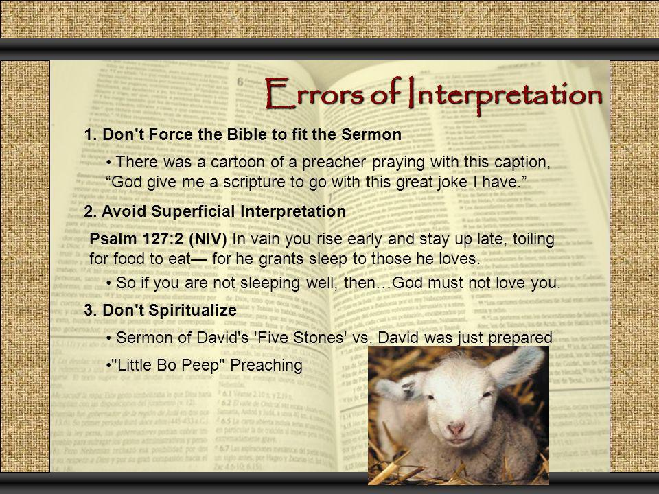 Errors of Interpretation