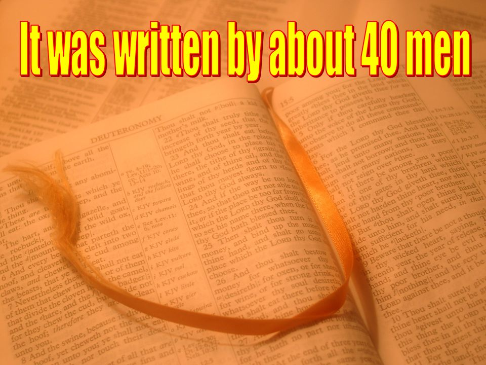 What Do We Know About The Forty Writers of the Bible.