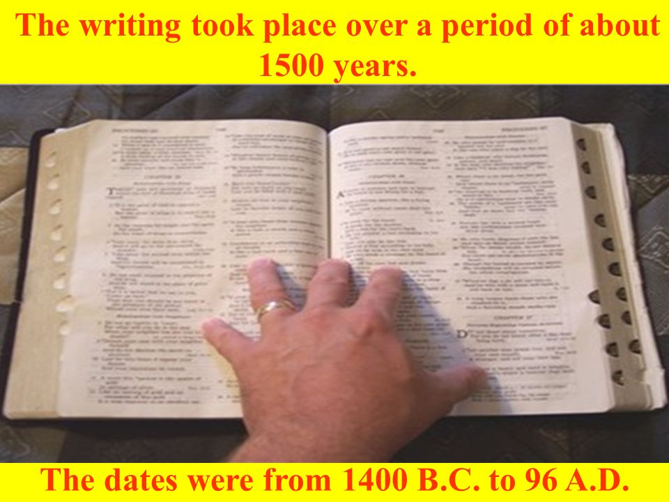 Since there are so many events recorded in the Bible, it is easier to read them one at a time.