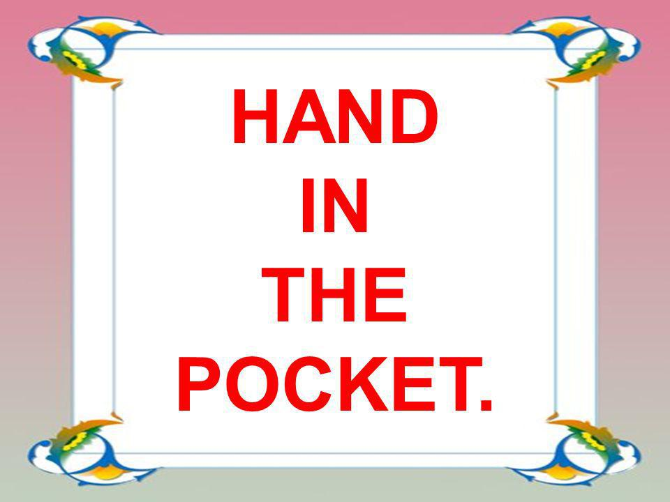 HAND IN THE POCKET.
