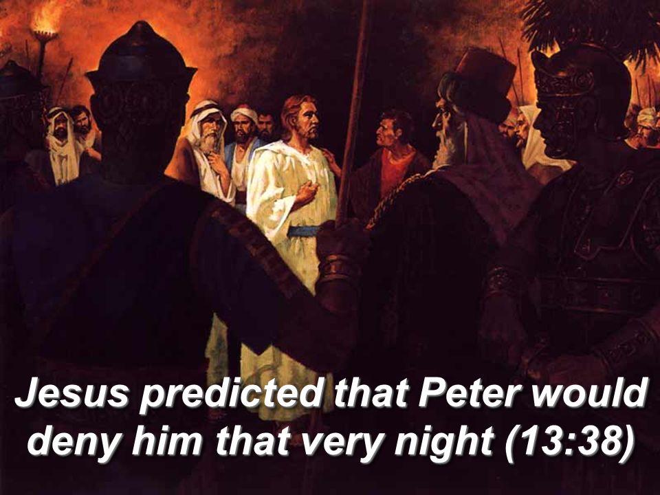 Judas had already left to betray Christ As soon as Judas took the bread, Satan entered into him (13:27)