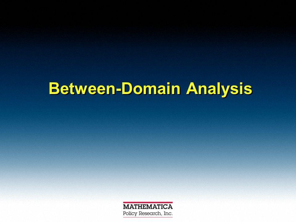 Between-Domain Analysis