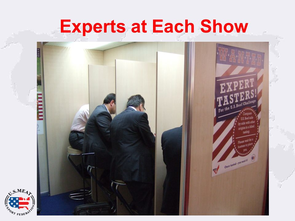 Experts at Each Show