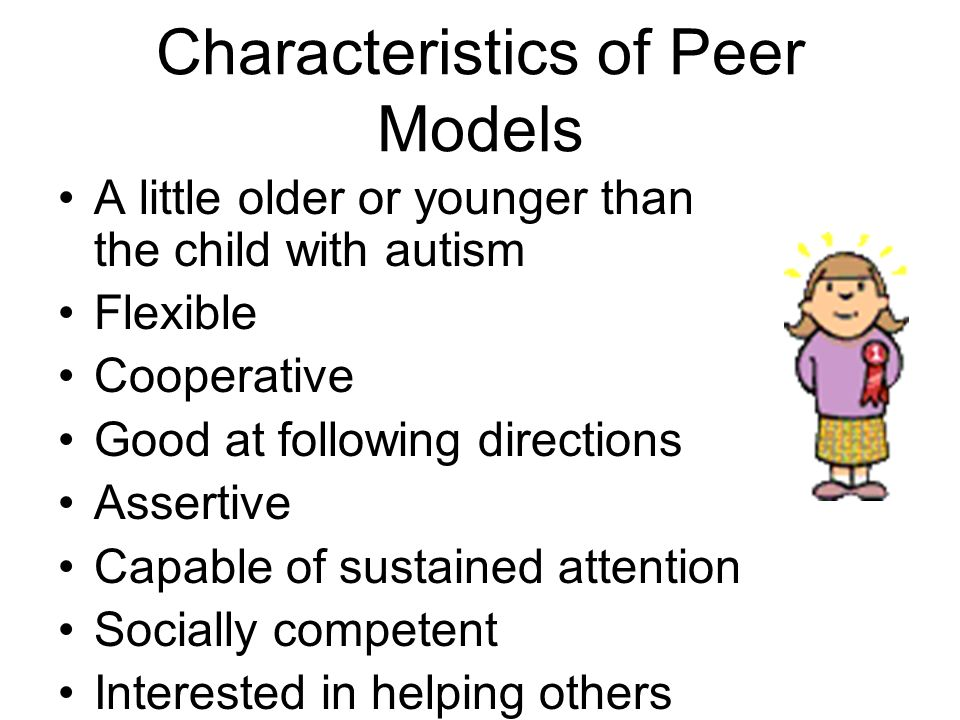 Helpful Skills to Teach Typical Peers Sharing / requesting shares Organizing play Offering / requesting assistance Making compliments Making overtures of affection Providing supportive comments Greeting peers Asking questions Providing physical prompts Persisting until a response is given