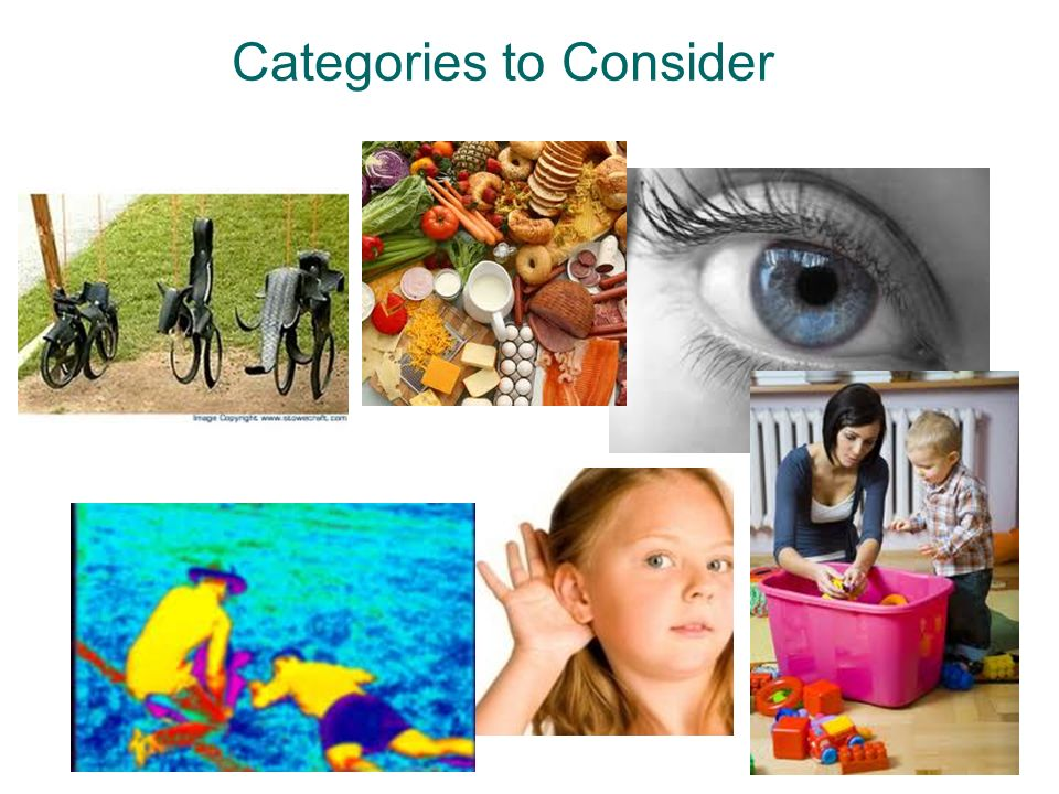 Categories to Consider