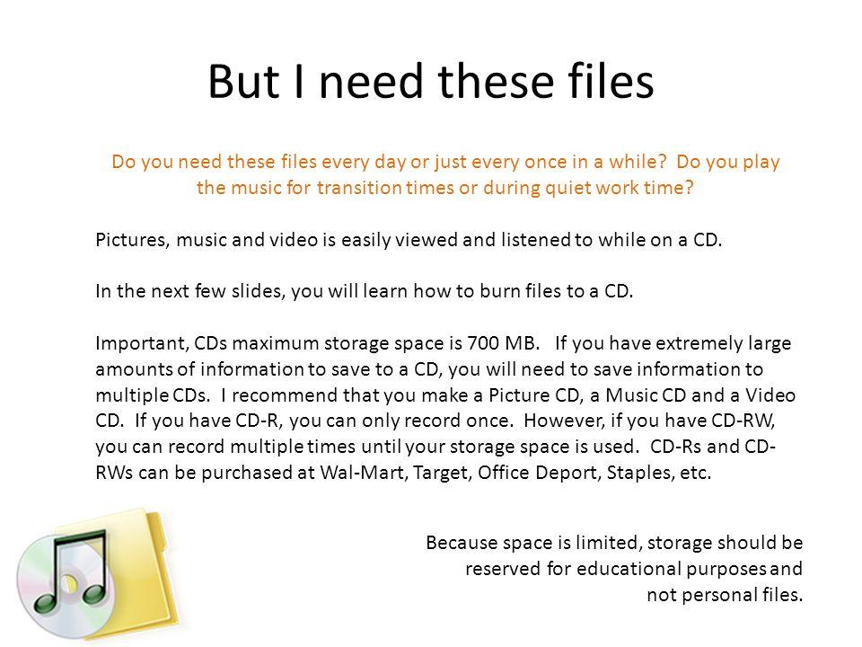 Saving to a CD 1.