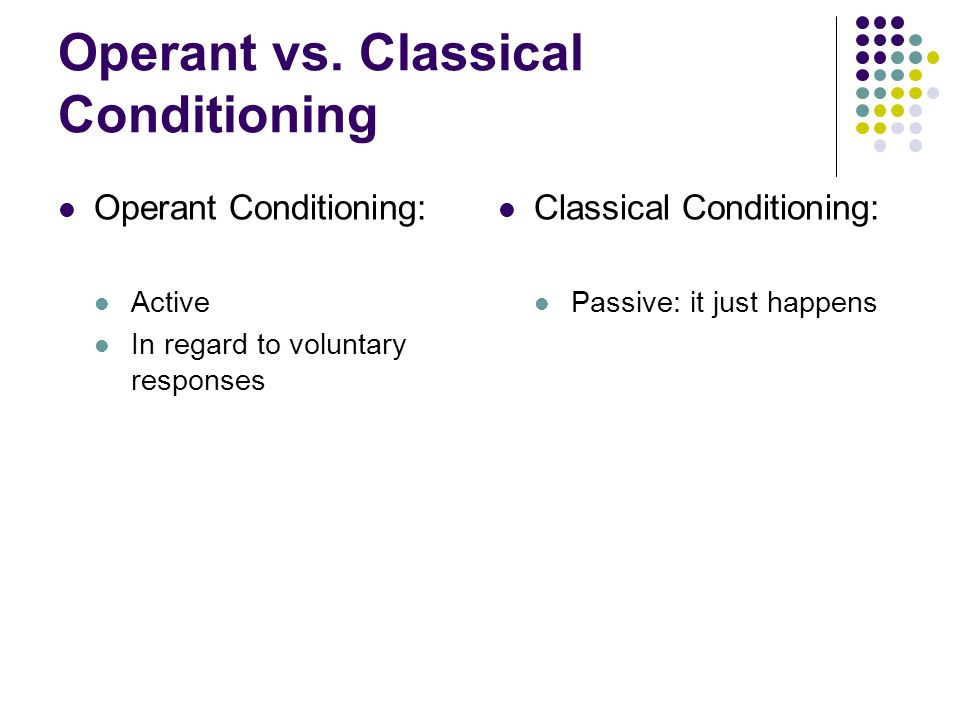Operant Conditioning Worksheet Classical Conditioning Operant