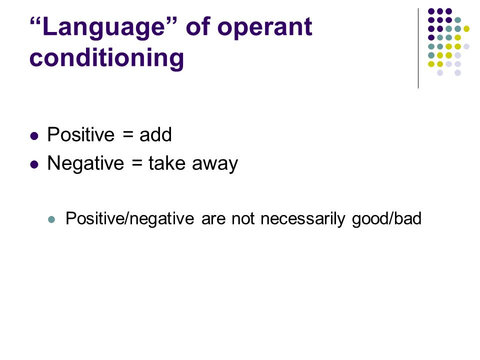 Operant Conditioning Worksheet of operant conditioning