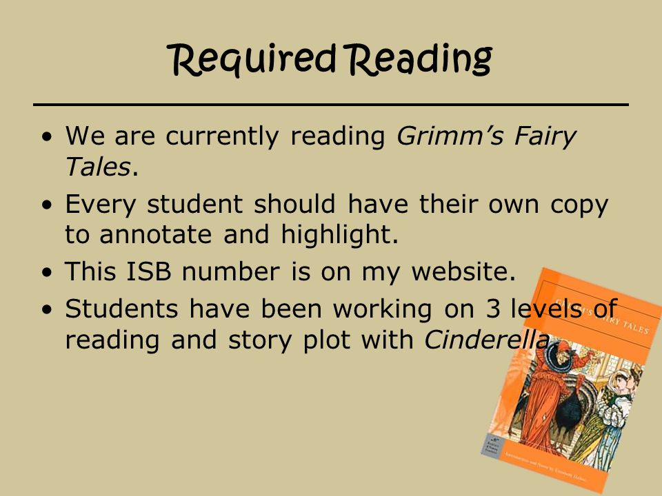 Reading Log The reading log can be found and printed from my website under Resources. Each student must read 400 pages every nine weeks and turn their