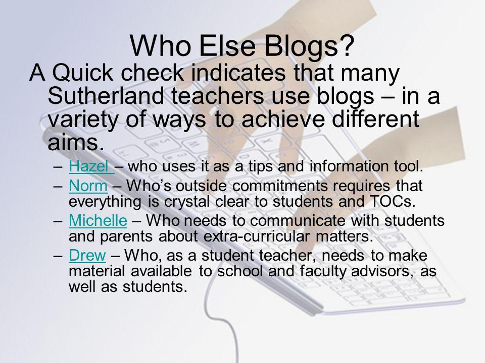 Who Else Blogs.