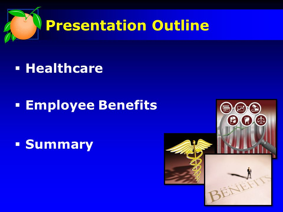 Healthcare Employee Benefits Summary Presentation Outline