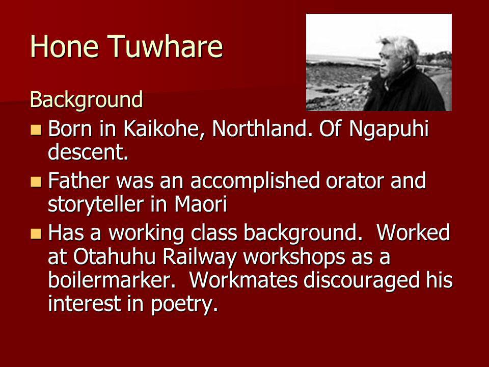 Background Born in Kaikohe, Northland. Of Ngapuhi descent.