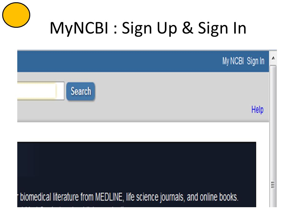 MyNCBI : Sign Up & Sign In