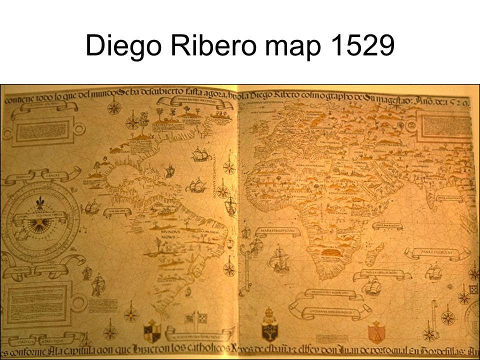 Diego Ribero map 1529