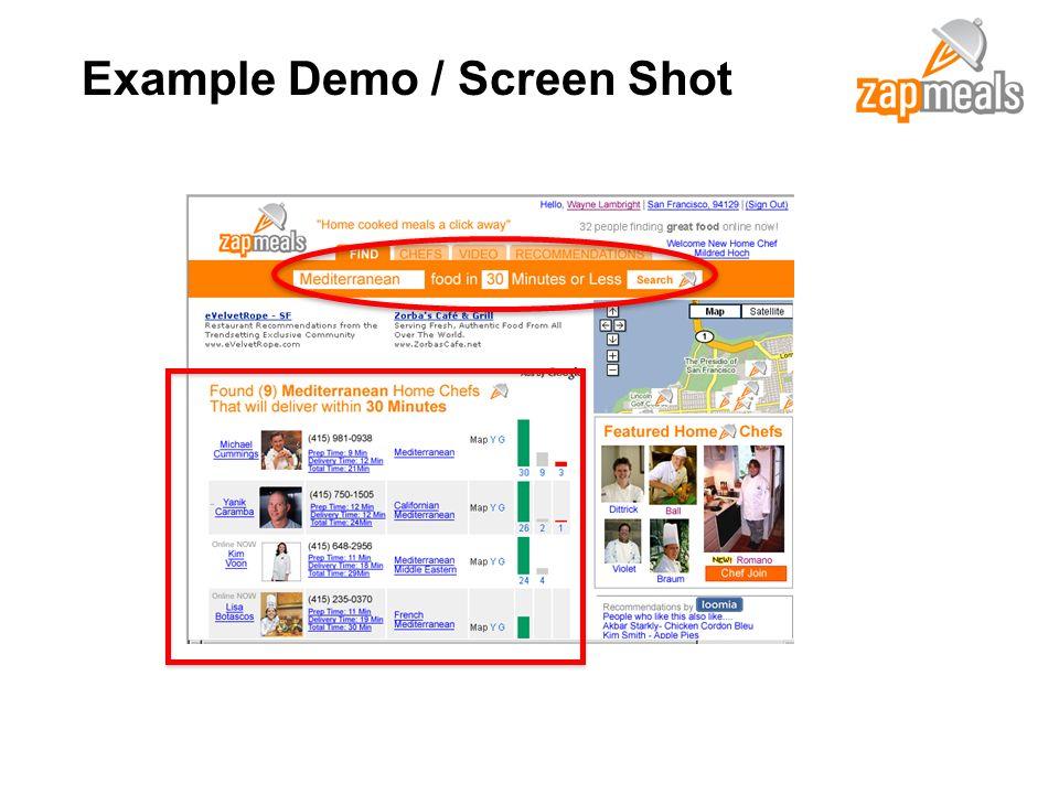 Example Demo / Screen Shot