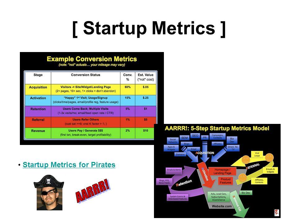 [ Startup Metrics ] Startup Metrics for Pirates