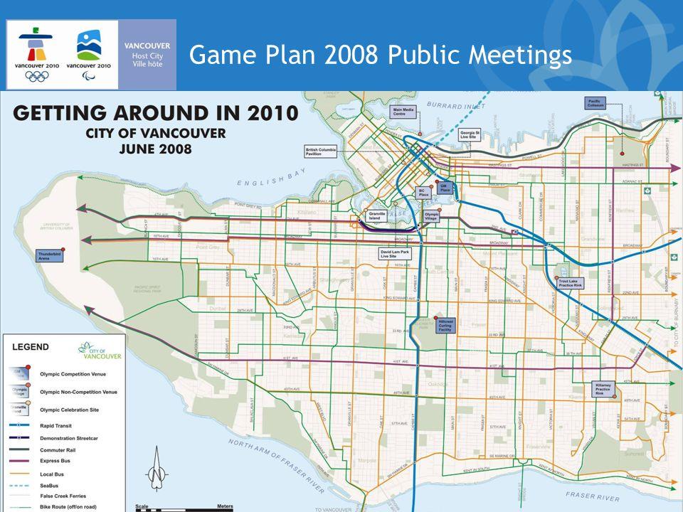 Game Plan 2008 Public Meetings