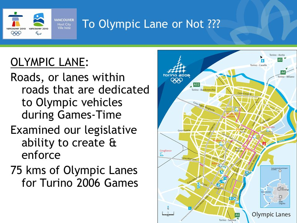 To Olympic Lane or Not ??.