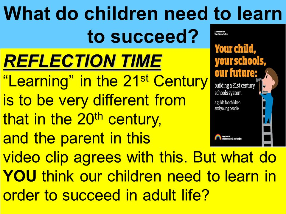 People Progress Pride Key Stage 3 Strategy2 What do children need to learn to succeed? REFLECTION TIME Learning in the 21 st Century is to be very dif