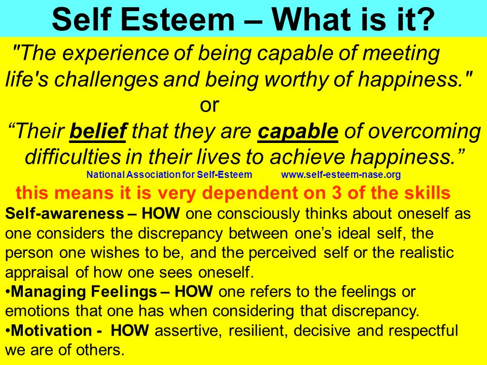 People Progress Pride Self Esteem – What is it?