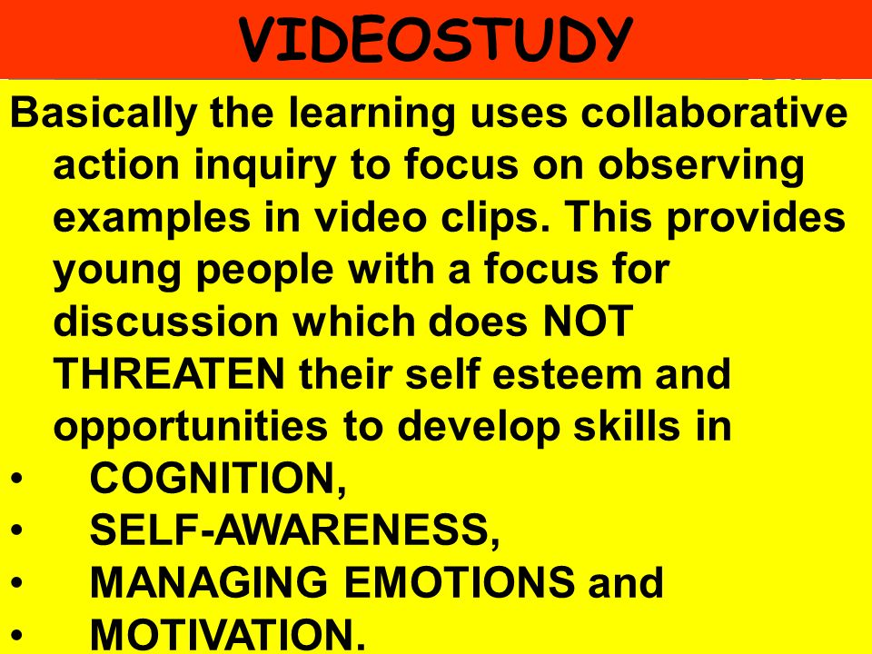 People Progress Pride Basically the learning uses collaborative action inquiry to focus on observing examples in video clips. This provides young peop