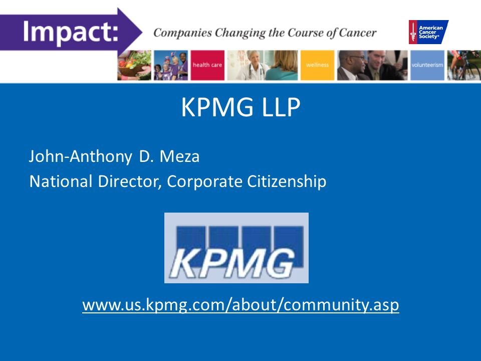 KPMG LLP John-Anthony D.
