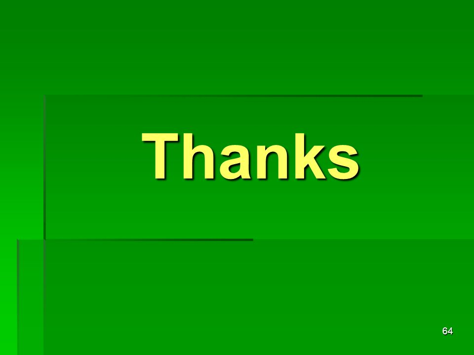 64 Thanks